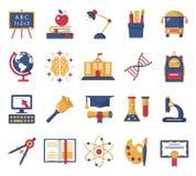 установленные иконы образования Стоковые Фото