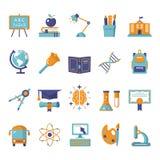 установленные иконы образования Стоковая Фотография RF
