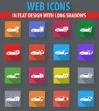Установленные иконы обслуживания автомобиля Стоковое фото RF