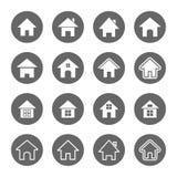 установленные иконы дома Стоковые Фото