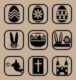 установленные иконы пасхи Стоковая Фотография