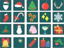 установленные иконы рождества Стоковые Изображения