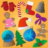 установленные иконы рождества Стоковые Фото
