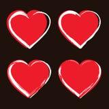 установленные иконы сердца Стоковое Фото