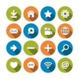 Установленные иконы сети Стоковые Изображения