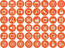 Установленные иконы сети Стоковое Изображение RF
