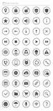 Установленные иконы сети Стоковые Фото
