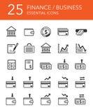 Установленные иконы финансов и дела стоковое фото
