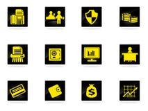Установленные иконы финансов Стоковая Фотография RF