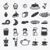 Установленные иконы хлебопекарни Стоковые Изображения RF
