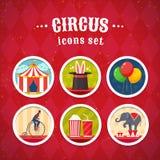 Установленные иконы цирка бесплатная иллюстрация