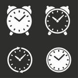 Установленные иконы часов Стоковое фото RF