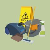установленные иконы чистки Стоковые Фотографии RF