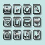 установленные иконы Стоковое Изображение