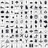 установленные иконы Стоковое Изображение RF