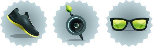 установленные иконы Стоковые Фотографии RF