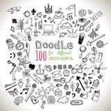 Установленные иконы Doodle Стоковые Изображения