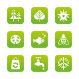 установленные иконы eco Стоковая Фотография RF