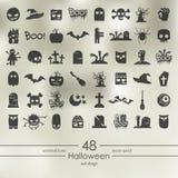 установленные иконы halloween Стоковая Фотография RF
