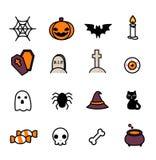 установленные иконы halloween Стоковые Изображения RF