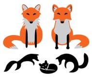 установленные лисицы бесплатная иллюстрация
