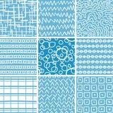 Установленные картины абстрактного doodle безшовные Стоковые Фотографии RF