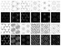 Установленные картины вектора безшовные Стоковая Фотография RF
