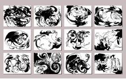 Установленные картины вектора мраморные Стоковые Фотографии RF