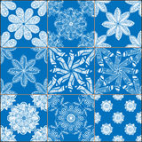 Установленные картины геометрических плиток безшовные Стоковые Фото