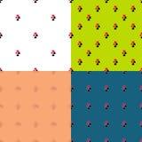 Установленные картины костюмов играя карточек безшовные Пакет  Стоковое Изображение RF