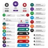 Установленные кнопки безопасностью дела Стоковые Фото
