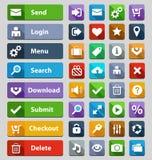 Установленные кнопки веб-дизайна Стоковое Фото