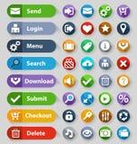 Установленные кнопки веб-дизайна Стоковые Фото