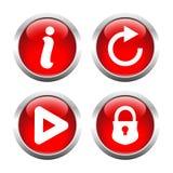 установленные кнопки вектор Стоковые Изображения