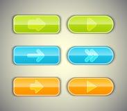 Установленные кнопки стрелки. Стоковое Изображение