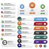 Установленные кнопки служб безопасности Стоковые Фотографии RF
