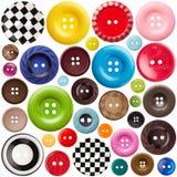 установленные кнопки шить стоковая фотография