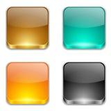 Установленные кнопки App Стоковые Фото