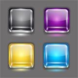 Установленные кнопки App Стоковое Фото