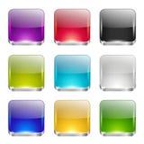 Установленные кнопки App Стоковая Фотография
