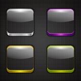 Установленные кнопки App Стоковые Фотографии RF