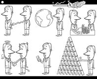 Установленные концепции и идеи шаржа дела иллюстрация штока