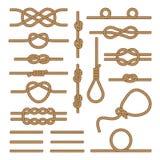 Установленные коричневые веревочки стоковые изображения