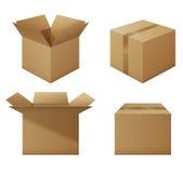 установленные коробки Стоковые Фото