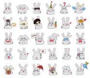 установленные кролики иллюстрация вектора