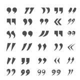 Установленные метки цитаты Стоковое Изображение RF