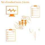 Установленные медицинские иконы Стоковые Фото