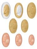 Установленные монетки евро бесплатная иллюстрация