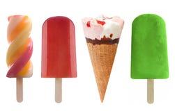 Установленные мороженое и замороженные lollies льда Стоковая Фотография RF
