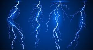 Установленные молнии Стоковое Фото